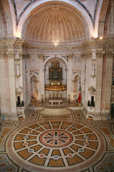 The National Pantheon main hall in Lisbon, Portugal