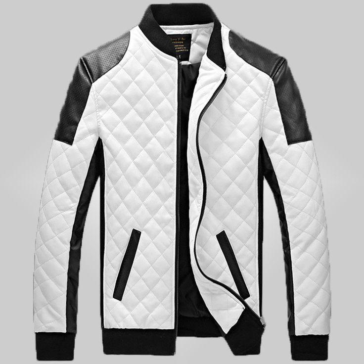 1000  ideas about White Leather Jacket Mens on Pinterest | Men&39s