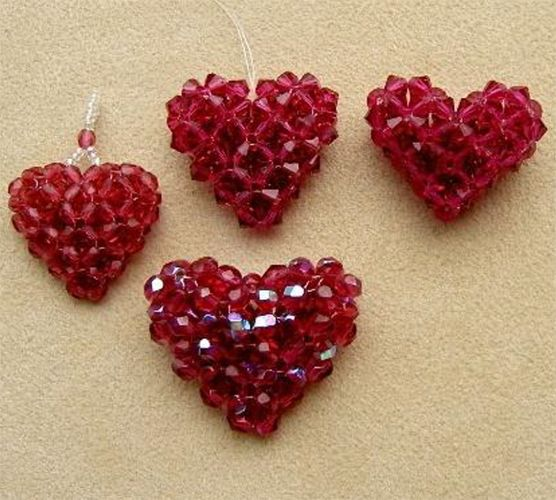 "Crystal ""Puffy Heart"" Pattern | Bead-Patterns.com"
