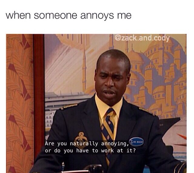 I have become Mr. Moseby