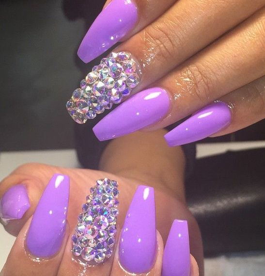 Pin By Maggie On Claws Nails Purple Nails Trendy Nails