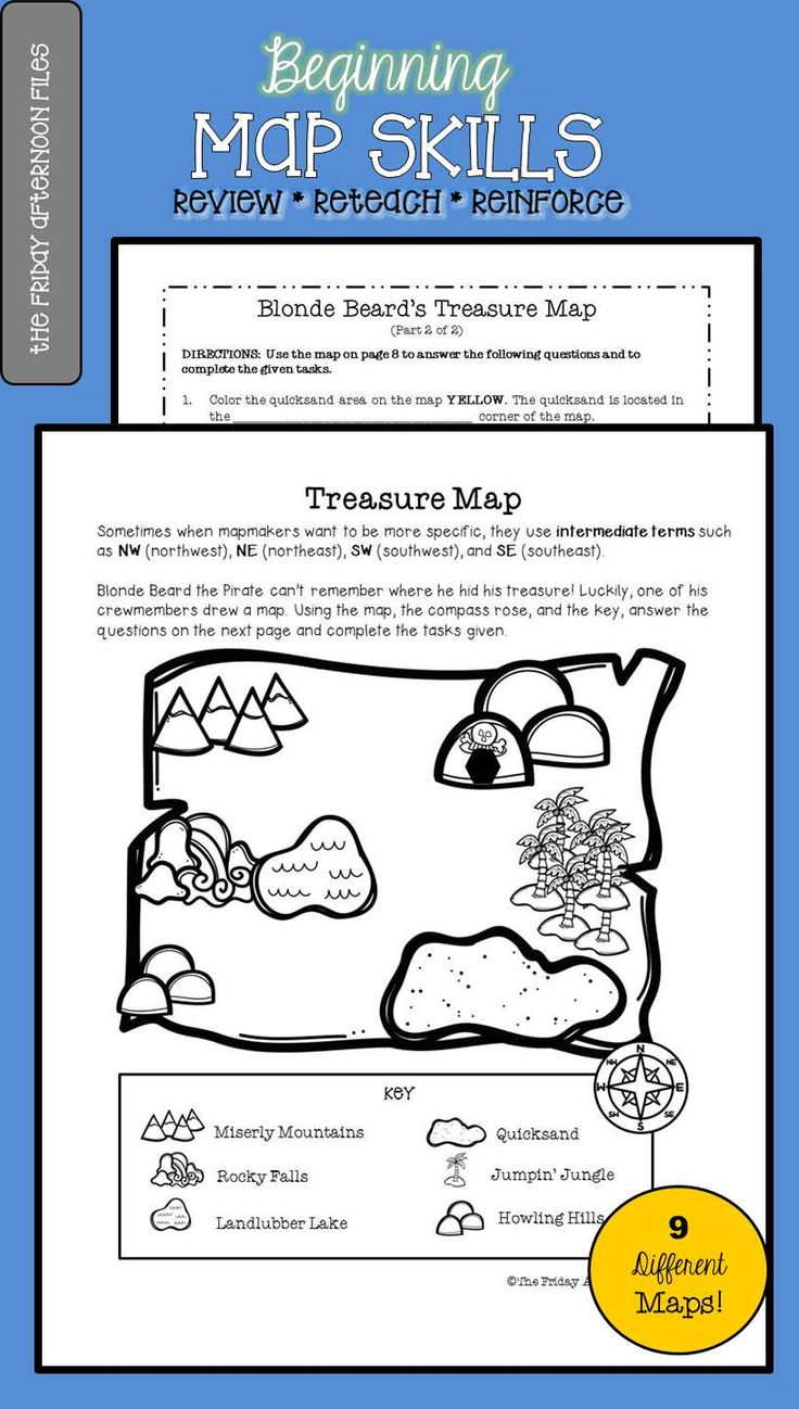 earning map skills can take lots of practice! This engaging pack offers students NINE different maps to hone their skills.