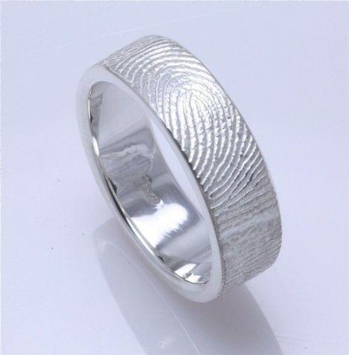 fingerprint wedding ring.