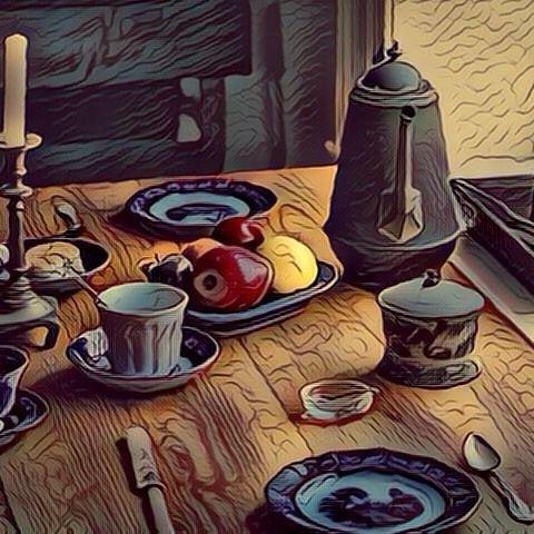 Still Life (Fauvism style). Bodegón (estilo Fauvismo). #stilllife #stilllifes #bodegon #bodegones #painting #paintings #paintwork #paintworks #art #arts #arte #artes #pintura #pinturas #picture #pictures #cuadro #cuadros #fauvism #fauvismo