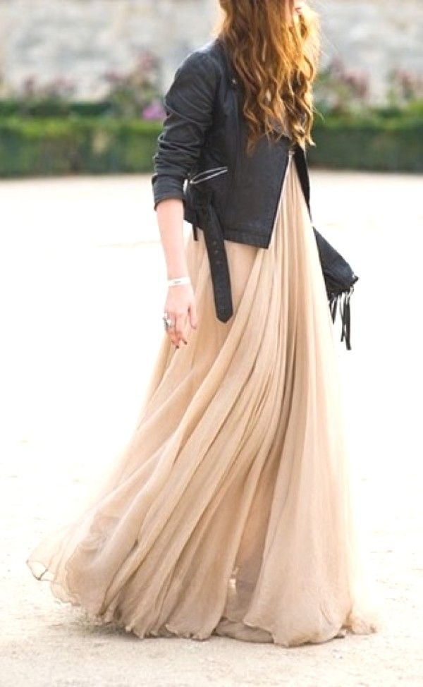 Leather Jacket Maxi Dress Jpg Fall Wedding