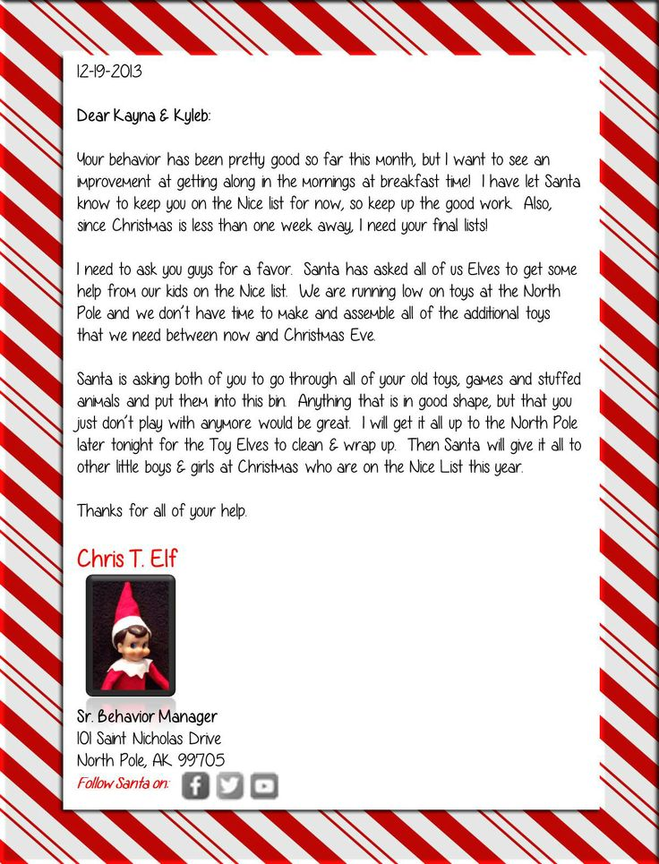 Toy Shortage At The North Pole Note From Santa Asking For