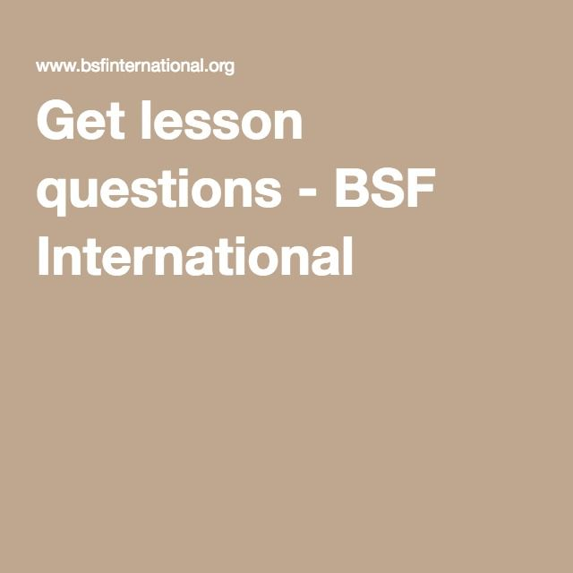 Get lesson questions - BSF International