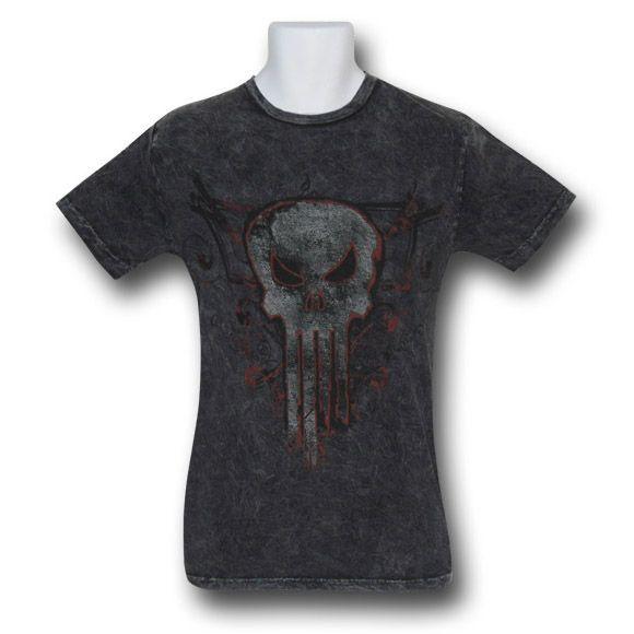 Punisher Acid Wash Symbol T-Shirt