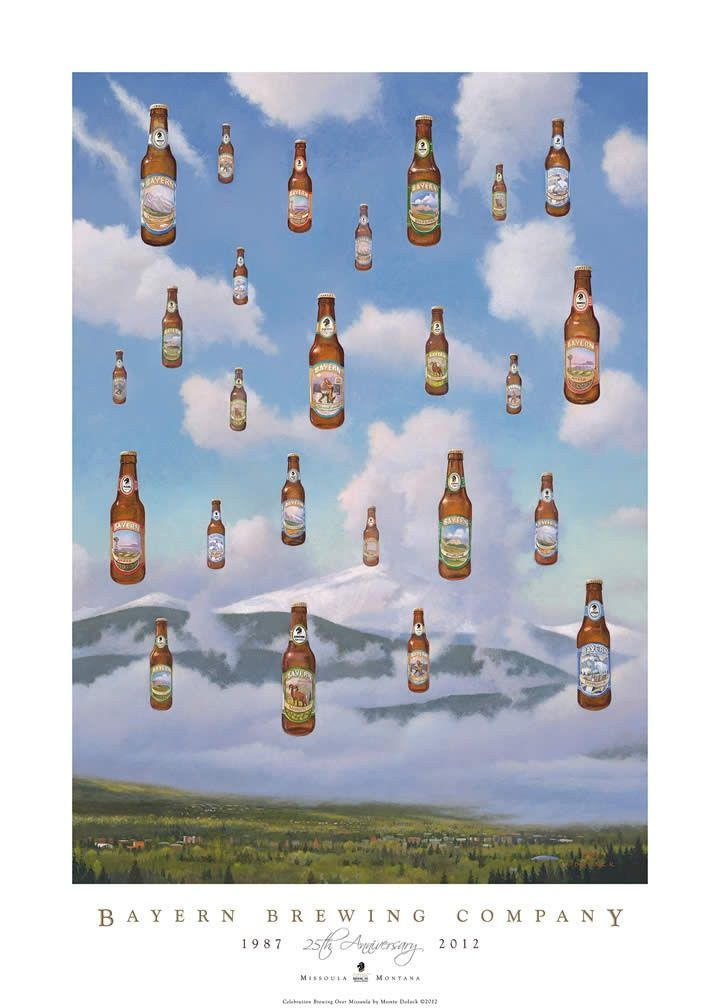 Bayern Brewing Company Monte Dolack Poster missoula