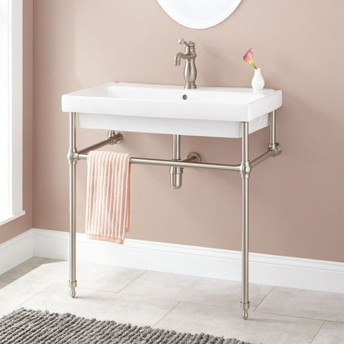 sinks bathroom console sink magicka chrome metal meetly co grid legsmetal with shelf