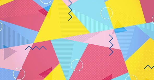 Многоугольный узор в стиле мемфис в Adobe Illustrator