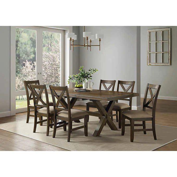Braeden 7 Piece Dining Set, Costco Dining Room Table