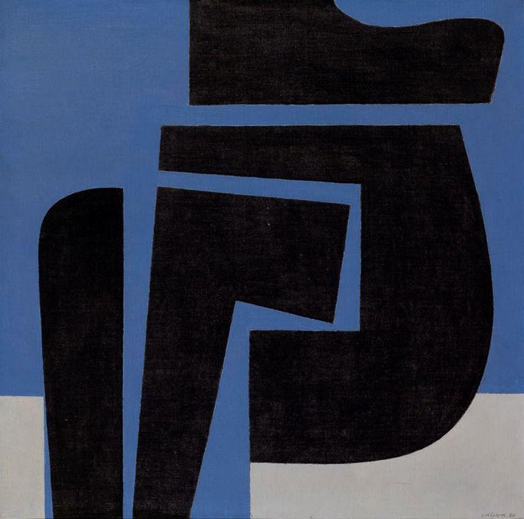 'Negative' by Greek artist Yannis Moralis (1916-2009). via paletaart