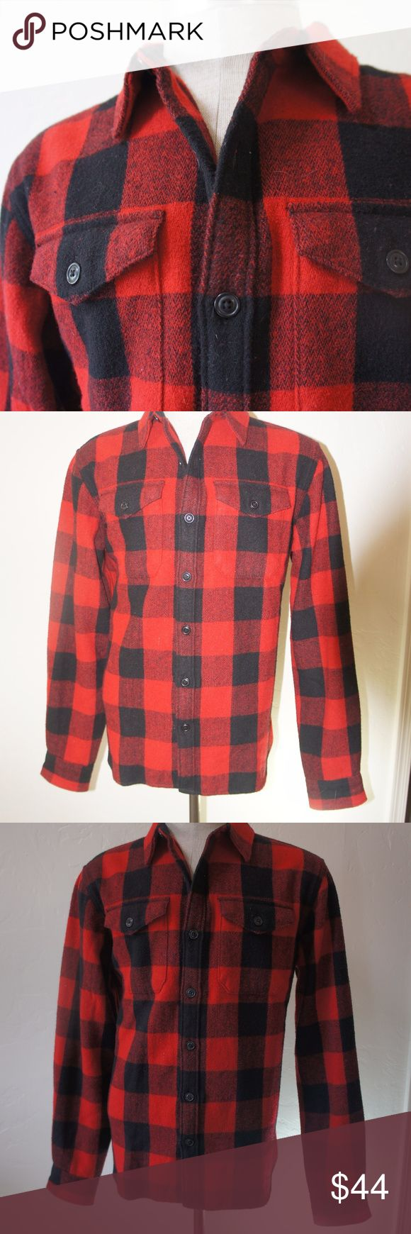 Old Navy wool blend plaid shirt jacket Large NWOT plaid wool shirt jacket.  Two chest pockets for your smokes and chainsaw oil, rugged design and feel all the way around.  Better enjoy wool against your bare chest or better yet, just put a undershirt on with this bad boy. Old Navy Jackets & Coats Lightweight & Shirt Jackets