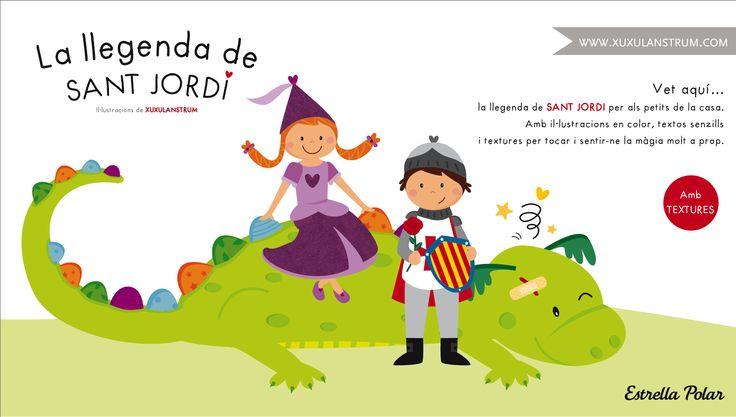 Ilustración para el cuento de la Llegenda de Sant Jordi.