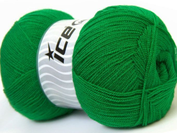 Very thin yarn. It is spinned as two threads. So you will knit as two threads. Yardage information is for only one strand. Fiber Content 100% Acrylic, Jungle Green, Brand Ice Yarns, Yarn Thickness 1 SuperFine  Sock, Fingering, Baby, fnt2-22446
