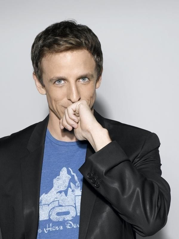 I love that Seth Meyers constantly looks like he's about to tell a joke and just can't wait for the punch line.