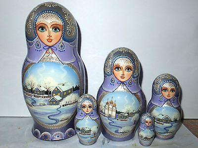 Русской матрешки зима ручной работы