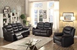 Bennett Transitional Glider Reclining Sofa, Loveseat and Glider Reclining Chair, 3-Piece Set N270-BENNET-3PC-SET