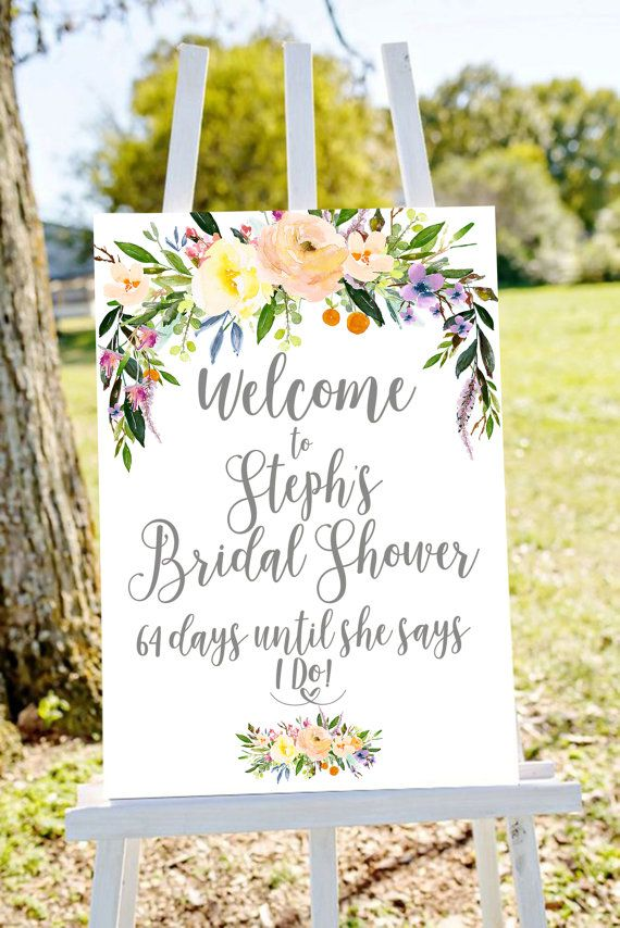 bridal shower sign bridal shower welcome sign by Papierscharmants