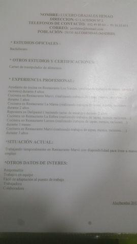 MIL ANUNCIOS.COM - Cocineros-Camareros en Madrid. Ofertas de empleo para cocineros y camareros en Madrid. Trabajo de cocinero y camarero en Madrid.