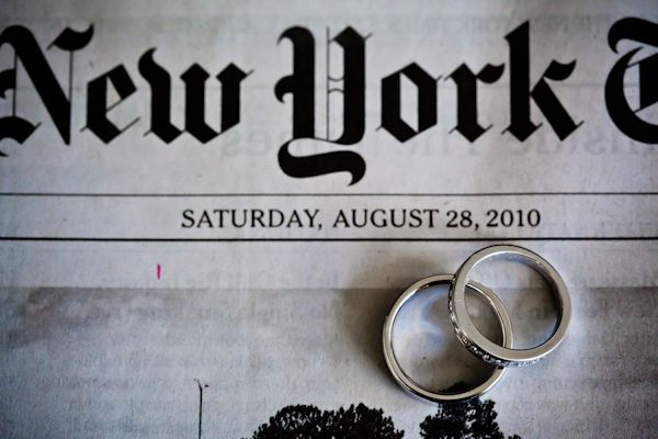 Wedding rings photographed with the day's newspaper :) Photo Collection by JAG Studios