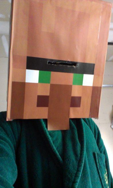Minecraft Villager Head Costume Villager (Minecraft) c...