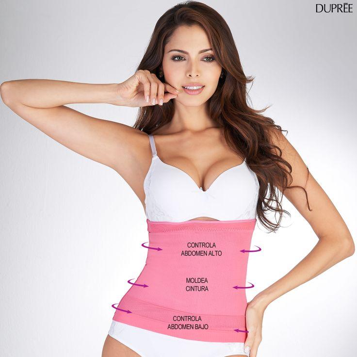 ¡Estiliza tu figura con la Cinturilla Control Rosa!.. Con aro de tela interno para que la ajustes tu brasier. ¡Divina y no se marca!