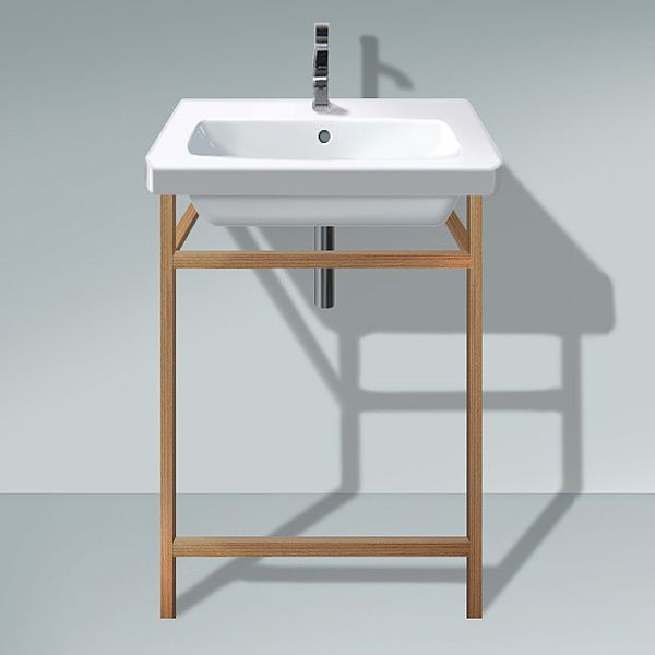 Image of Duravit DuraStyle 650mm Basin With European Oak Towel Rail