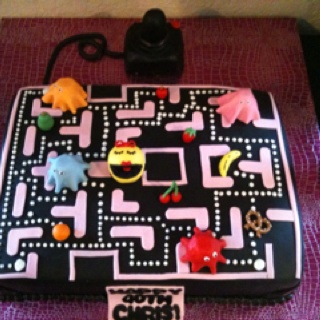 how to make a pacman cake