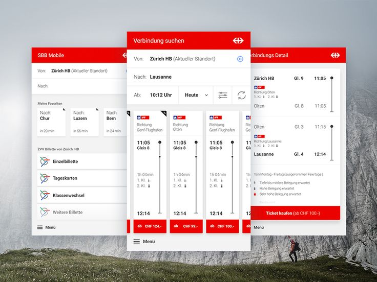 Swiss Federal Railways App Pitch