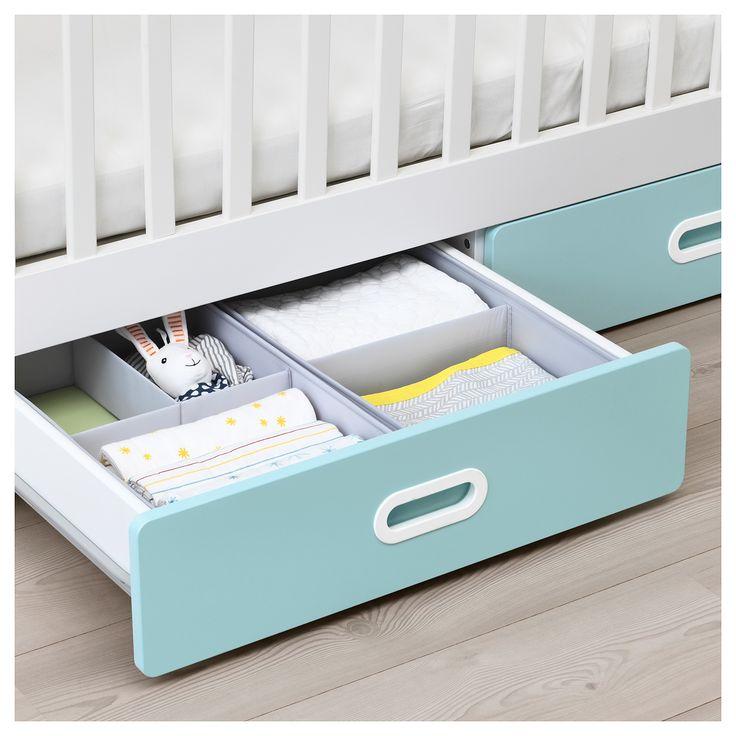 Ikea Stuva Fritids Crib With Drawers Light Blue In