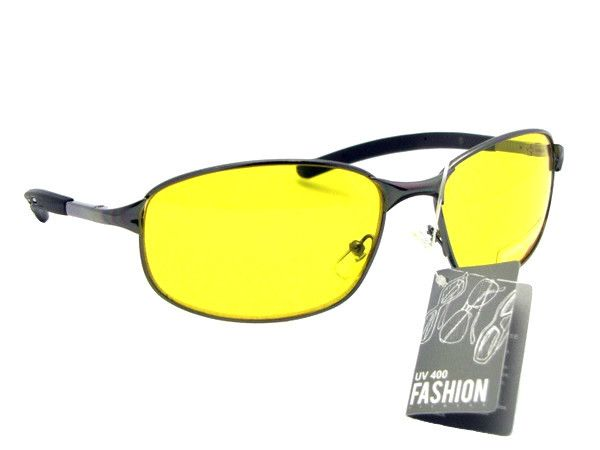 Metal Frame Yellow Lens Sunglasses Style Y11
