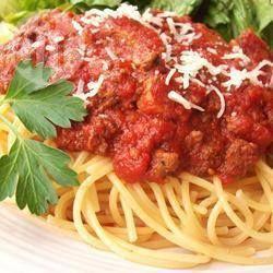 Spaghettisaus uit de slowcooker
