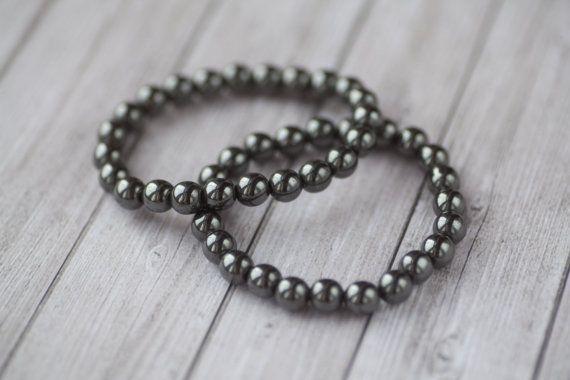 2 Hematite bracelets for men Men's hematite bracelet
