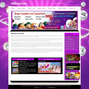 Online bingo sites provide a lot of information their players a wide range of bingo casino games.