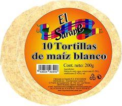 Tortillas de maiz blanco 12cm El Sarape