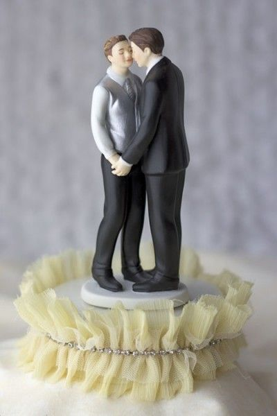 African American Same Sex Wedding Cake Toppers