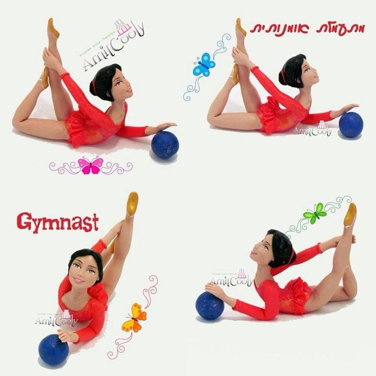 Gymnast Template For Cake Decorating