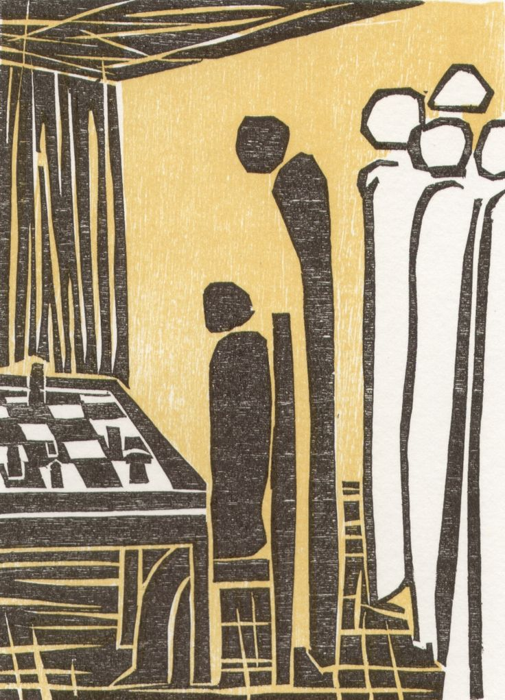Elke Rehder: Woodcut to the chess story The Royal Game The Royal Game (or Chess Story; Schachnovelle in the original German) is a novella by Austrian author Stefan Zweig first published in 1941, just before the author's death by suicide