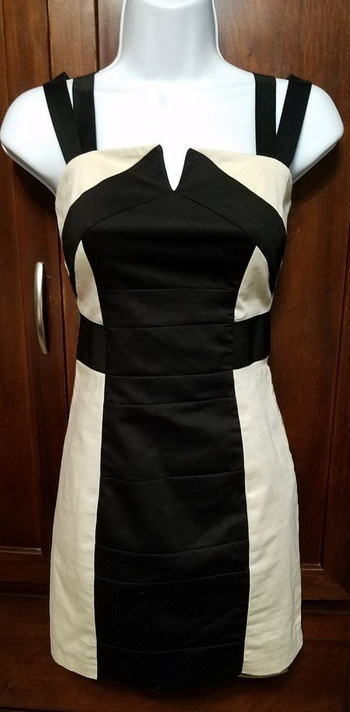 H&M Womens Size 4 Black and Tan Strappy Bandage Mini Dress Sexy Stretch Bodycon  | Clothing, Shoes & Accessories, Women's Clothing, Dresses | eBay!