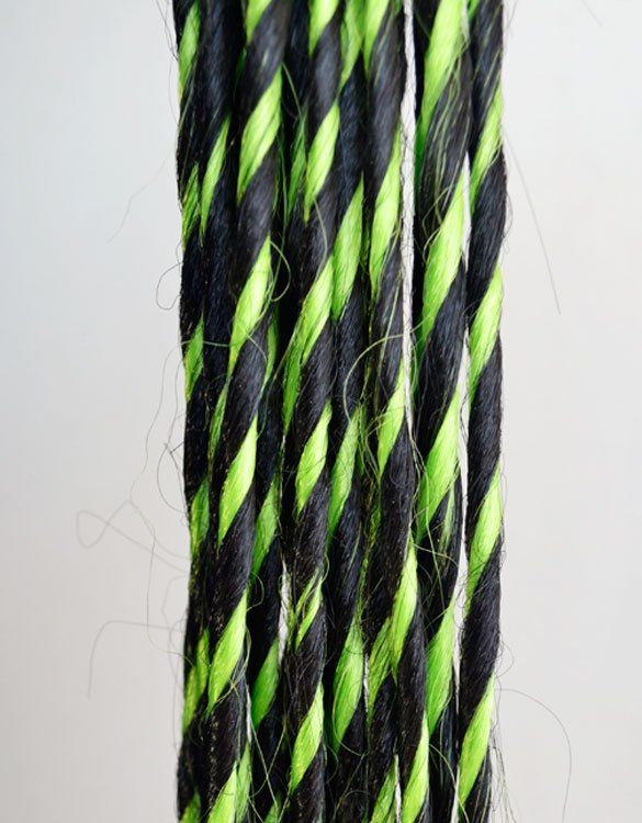 Black & Green Synthetic Dreadlocks