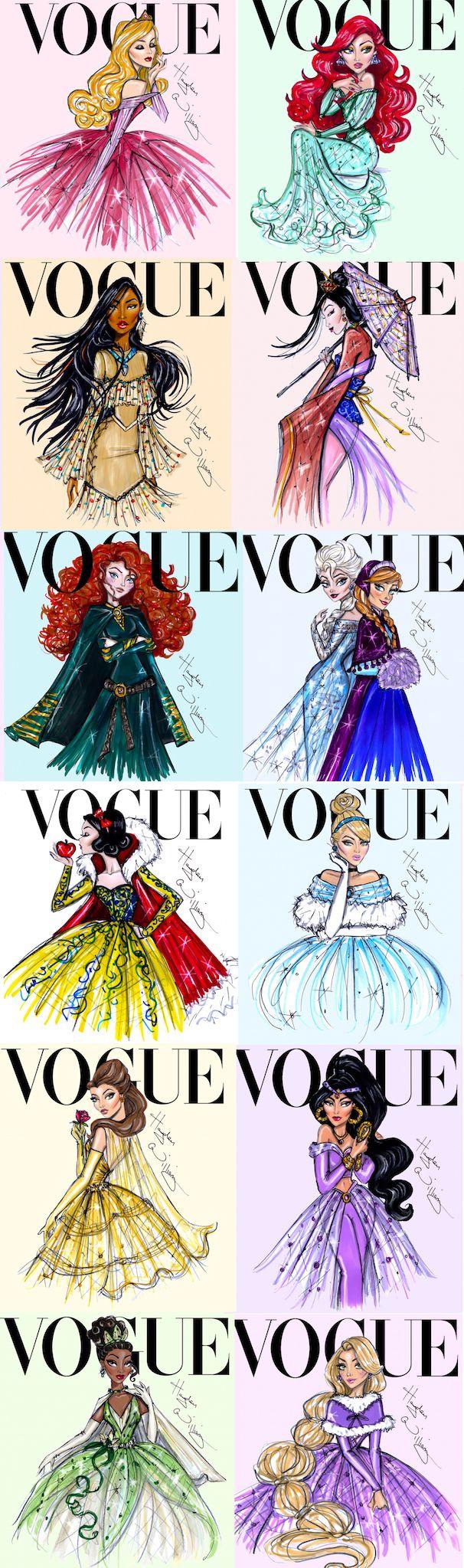 Hayden Williams Disney Princess Vogue.