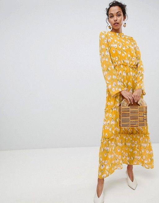 1729c8da8baa Vila Floral Maxi Dress in 2019 | Style | Floral maxi dress, Dresses ...