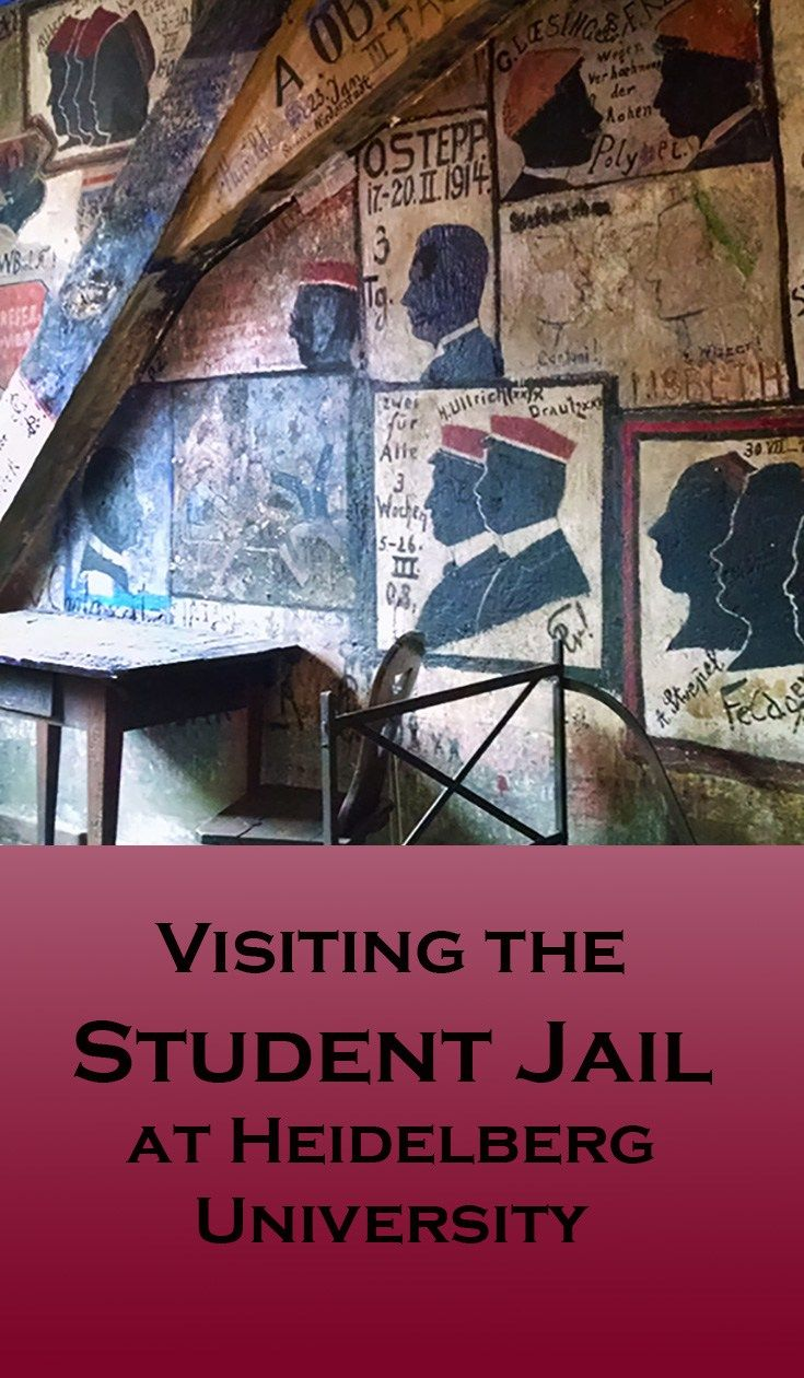 Visiting the Student Jail at Heidelberg University, in Germany. See where boys behaving badly ended up!