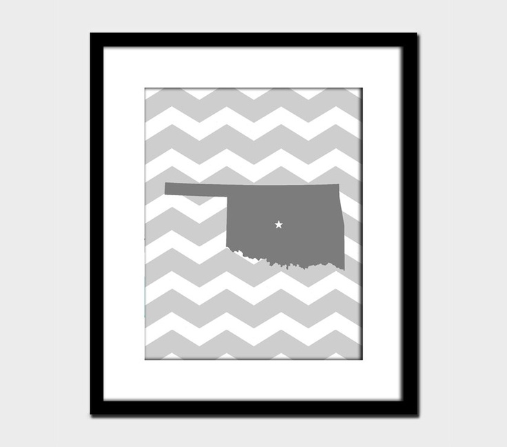 Oklahoma Chevron Modern State Wall Art Home Decor Art Home Decorators Catalog Best Ideas of Home Decor and Design [homedecoratorscatalog.us]