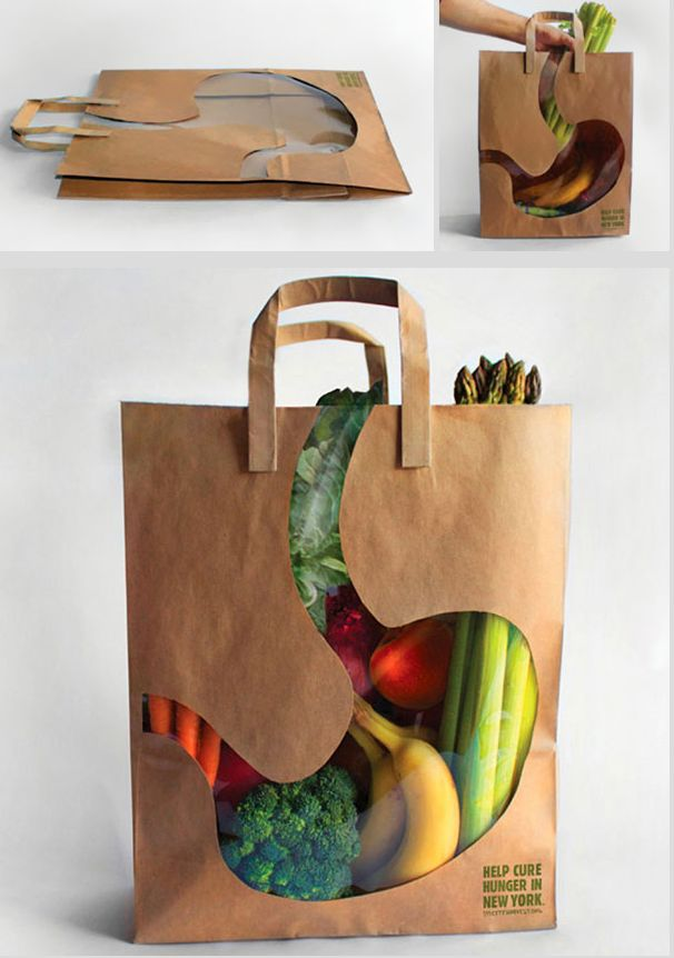 A grocery bag that makes you think about your health!