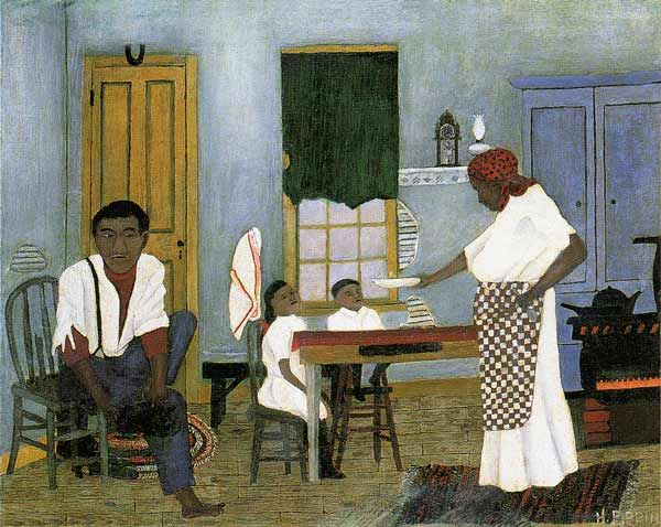 Horace Pippin Paintings   Horace Pippin, Sunday Morning Breakfast , 1943.