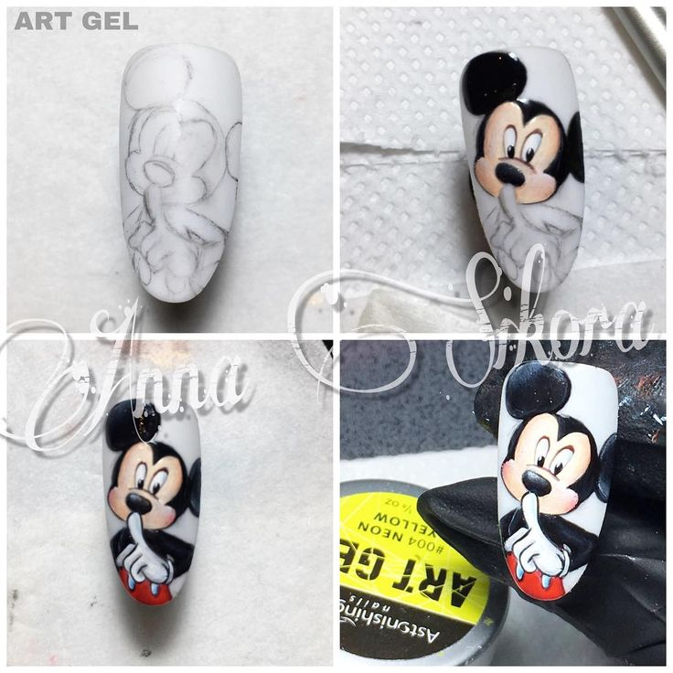 #stepbystep #astonishingnails #disney #mickeymouse #lovedisney #gel #design #nailart #artgel