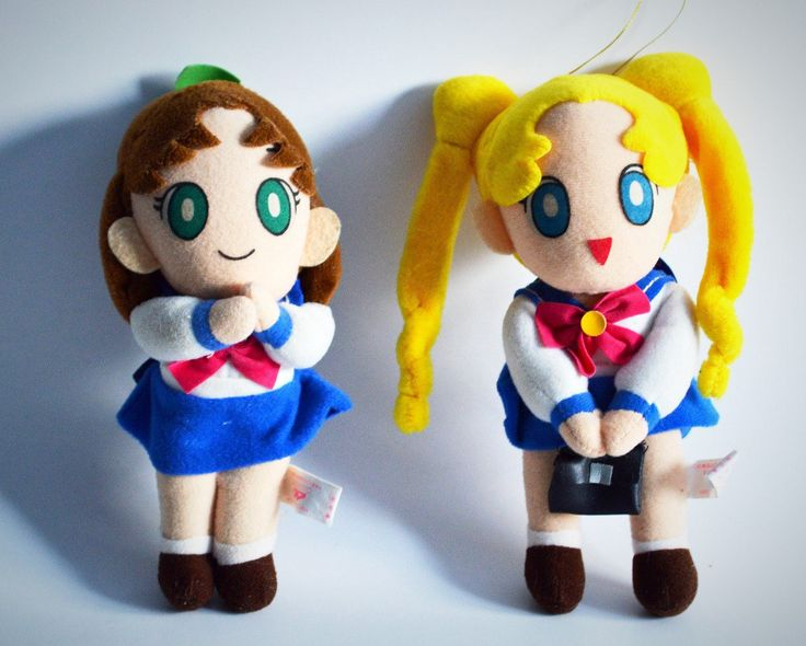 Vintage Sailor Moon UFO Catcher Plushie Prize Dolls, 1993, Banpresto, Sailor Moon and Naru Osaka in School Girl Uniforms by Retrorrific on Etsy